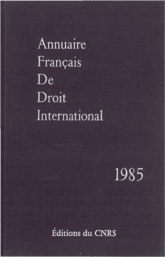 Annuaire français de droit international 31