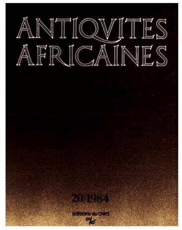Antiquités africaines T 20 - 1984