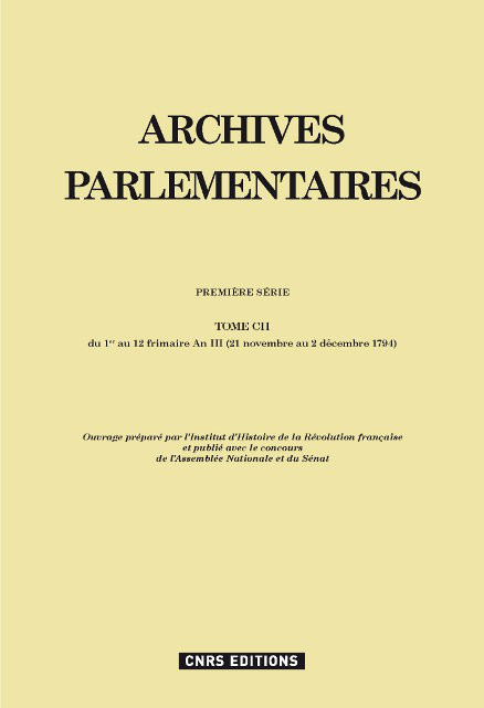 Archives parlementaires 102