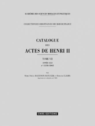 catalogue des actes de Henri II