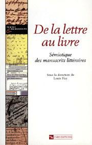 De la lettre au livre