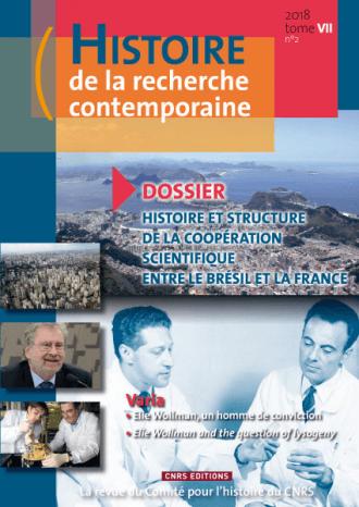 Histoire de la recherche contemporaine Tome VII n°2