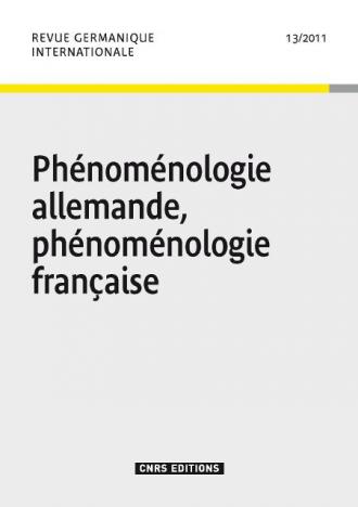 Revue germanique internationale 13
