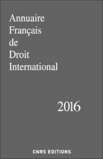 Annuaire Français de Droit International 62 - 2016
