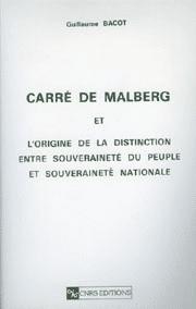 Carré de Malberg et l'origine de la distinction entre souveraineté du peuple et souveraineté nationale