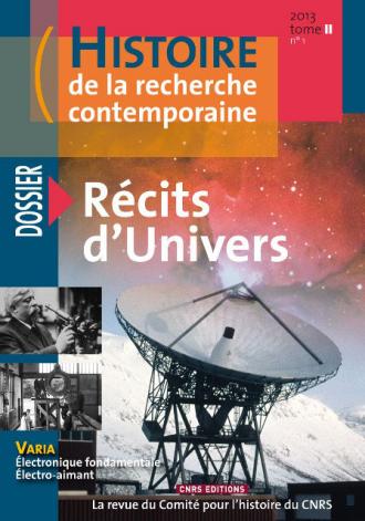 Histoire de la recherche contemporaine - tome 2 N°1