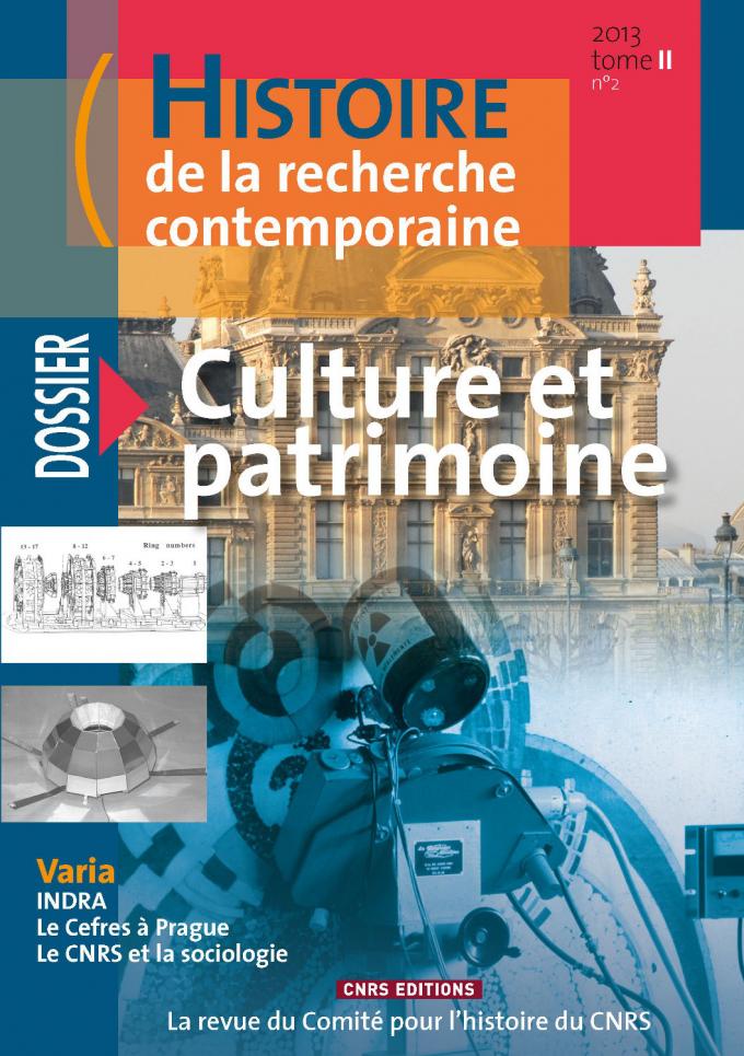 Histoire de la recherche contemporaine - tome 2 N°2