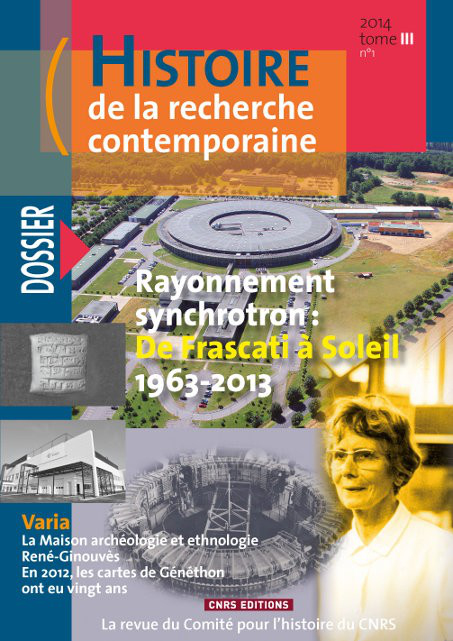 Histoire de la recherche contemporaine - tome 3 N°1