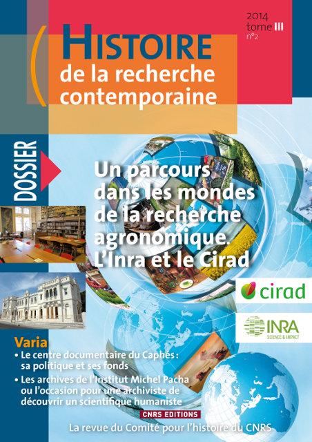 Histoire de la recherche contemporaine - tome 3 N°2