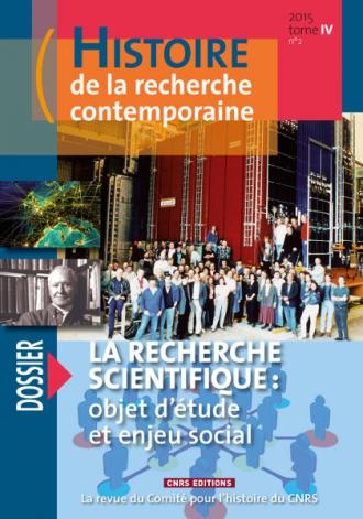 Histoire de la recherche contemporaine - tome 4 n°2