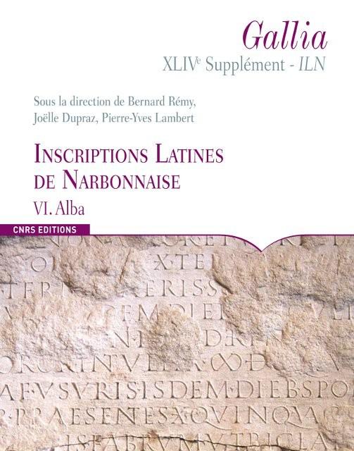 Inscriptions Latines de Narbonnaise, VI