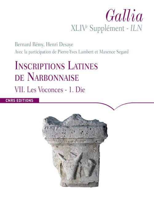 Inscriptions Latines de Narbonnaise VII