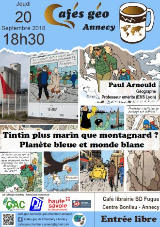 Paul Arnould au Café Géo d'Annecy - 20 septembre