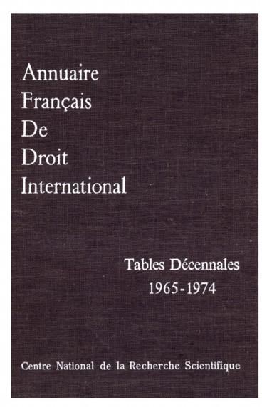 Annuaire français de droit international